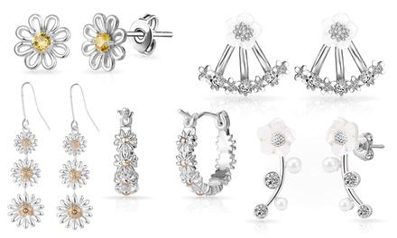 1, 2 o 5 pares de pendientes Philip Jones adornados con cristales Swarovski®