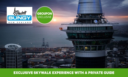 Auckland SkyWalk Experience for One ($110), Two ($220) or Four People ($440) with AJ Hackett Bungy NZ (Up to $552.28)
