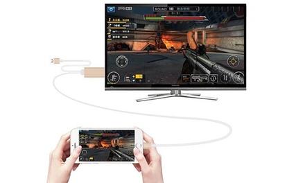 Adattatore HDMI smartphone o iPhone disponibile in 2 colori a 19,90 € (68% di sconto)