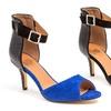 French Blu Candice Peep-Toe D'Orsay Heels