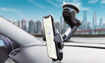 Support voiture rétractable et ajustable à 360°, pare-brise ou tableau de bord, compatible tous smartphones