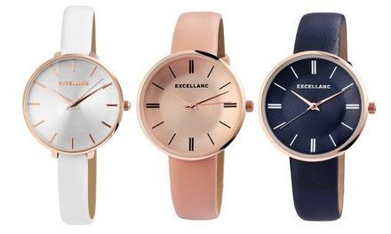 Montres Excellanc avec bracelet en simili cuir pour femmes