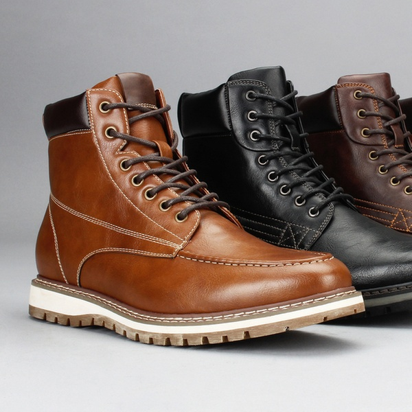 Moc-Toe or Round-Toe Boots