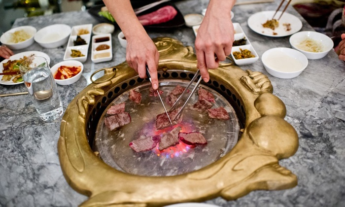 Kristalbelli - Koreatown: $79 for Michelin-Recommended Korean BBQ for 2 with a Bottle of Wine at Kristalbelli (Up to $151 Value).