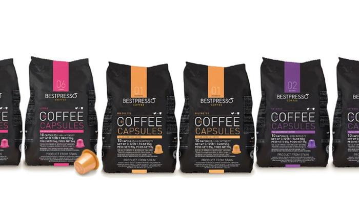 bestpresso compatible w nespresso r coffee machines 120 variety pack groupon. Black Bedroom Furniture Sets. Home Design Ideas