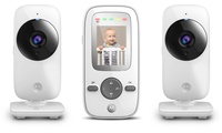 Motorola Baby Monitors with Video, WIFI and Dual Cameras (White)