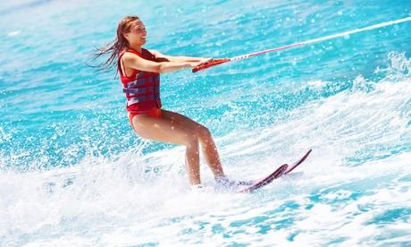 30 o 60 min de wakeboard, waterski o monoski con foto para 1 o 2 personas desde 39,90 € en Tenerife World Of Watersports