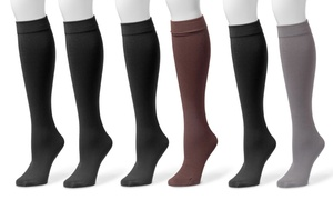 Muk Luks Fleece Lined Knee-High Socks (2-Pairs)