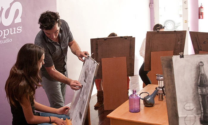 Octopus Art Studio - Octopus Art Studio: Drawing Class for One or Two, or a Drawing Workshop for Six at Octopus Art Studio (Up to 59% Off)