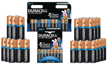 Pack de 8 piles Duracell MX2400 B8 AA or AAA