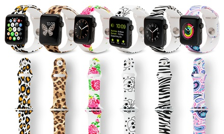 Printed Silicone Sport Band for Apple Watch