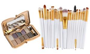 Palette maquillage et pinceaux