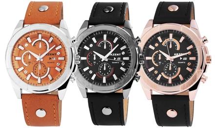 Akzent Armbanduhr für Herren in der Farbe nach Wahl (75% sparen*)