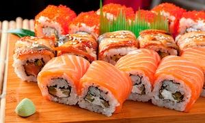 Misushi: Tabla de todo salmón de 30 o 60 piezas take away con opción a delivery en Misushi