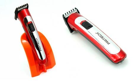 Cortapelos inalámbrico para barba Pritech con base de carga