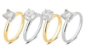 1.00-1.50 CTTW Certified Diamond Solitaire Ring in 14K Gold