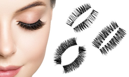 One, Two or Four Pairs of Triple Magnet Eyelashes