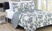 Reversible Super-Soft Floral Quilt Set (2- or 3-Piece)