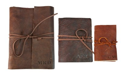 image for Custom Genuine Rustic Leather-Bound Journals from Monogram Online (Up to 94% Off)