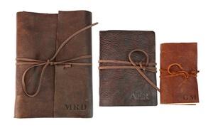 Custom Genuine Rustic Leather-Bound Journals at Monogram Online, plus 6.0% Cash Back from Ebates.