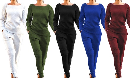 Women's Ribbed Lounge Set: One ($29) or Two ($49.95)