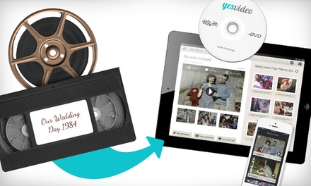 $19.99 for $60 Worth of DVD and Digital Conversion Services of VHS Tapes and Film Reels from YesVideo
