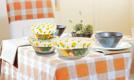 Three-Piece Reusable Cotton Food Cover Set: One Set ($12.95) or Two Sets ($18.95)