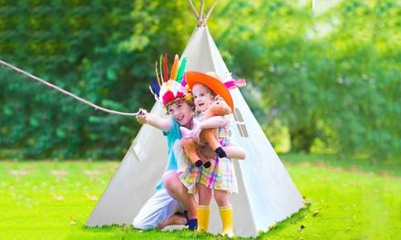 Tipi-Zelt in Weiß, Blau oder Pink für Kinder, optional mit zusätzlichen Accessoires (Statt: 89,95 € Jetzt: 44,95 €)