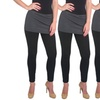 Women's Supersoft Cotton-Blend Skirt Leggings (3-Pack)