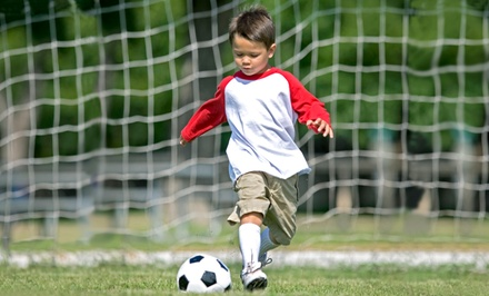One Month of Soccer Classes in April for One or Two Children Aged Two to Six at SoccerTots (Up to 49% Off)