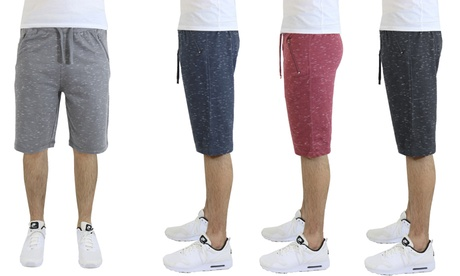 Men's Marled French Terry Jogger Shorts with Zipper Pockets 5450083c-67ba-47a3-9502-3874994f48da