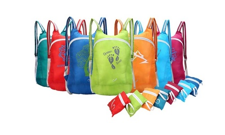 $14 Foldable WaterResistant Backpack, Available in Seven Colours