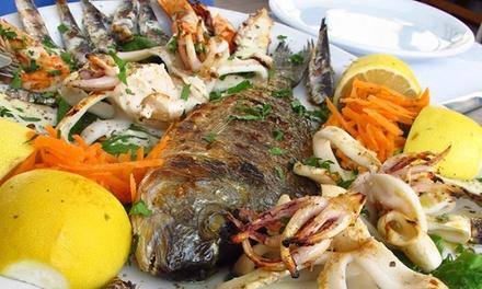 Deal Ristoranti Groupon.it ⏰ Menu di pesce alla carta con dolce e vino per 2 o 4 persone all'Antica Osteria della Pace (sconto 51%) Prenota&Vai!