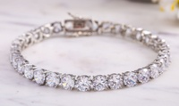 Lesa Michele 42.00 CTTW Tennis Bracelet made with Swarovski Elements (Multiple Options Available)
