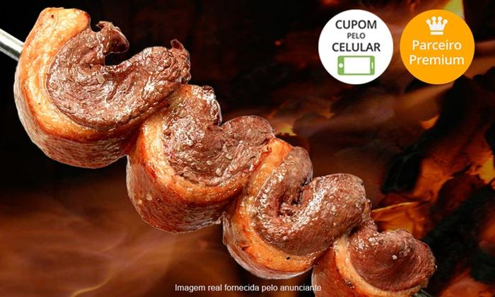 Churrascaria Pampa - Vários Locais: Churrascaria Pampa – 2 endereços: almoço ou jantar com rodízio de carnes, buffet e saladas à vontade