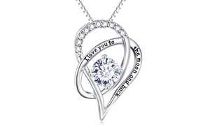 18K White Gold Necklace Made with Swarovski Elements