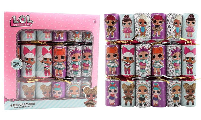 Six LOL Surprise! Christmas Crackers with LOL Toys from £7.98