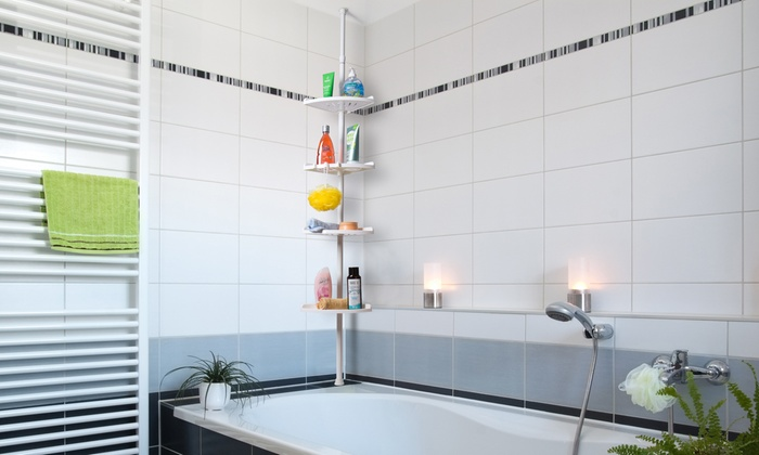 Badezimmer-Eckregal in Weiß | Groupon Goods