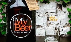 My Beer: Desde $209 por 1 o 2 botellones recargables con 1.9 litros de cerveza artesanal en My Beer