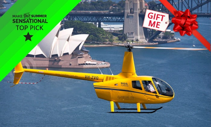 Bankstown Helicopters // - Bankstown Helicopters //: $379 Sydney Harbour Helicopter Flight for Two or Three People with Bankstown Helicopters (Up to $850 Value)