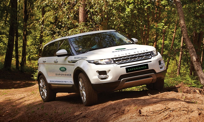 range rover evoque driving land rover start off road groupon. Black Bedroom Furniture Sets. Home Design Ideas