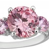 2.5 CTTW Lab-Grown Pink Sapphire Ring; 10K White Gold Filled