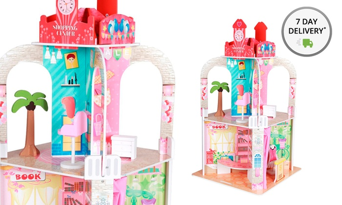 Teamson Shopping Center Dollhouse. Free Returns Deals for only $79 instead of $195