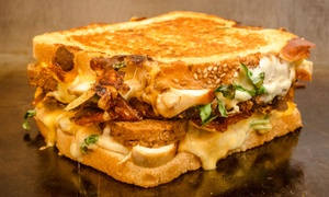The Pint and Brew: Grilled Cheese and Draft Beer for Two or Four at The Pint and Brew (Up to 43% Off)