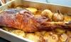 Menú de carne en horno de leña