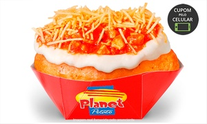 Planet Potato - Bosque Maia: 1 ou 2 batatas recheadas + 1 ou 2 refrigerantes (opção com sobremesa) no Planet Potato – Guarulhos