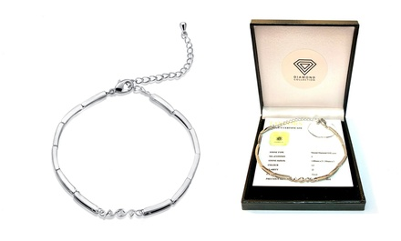 Bracciale con diamanti da 0,02 ct