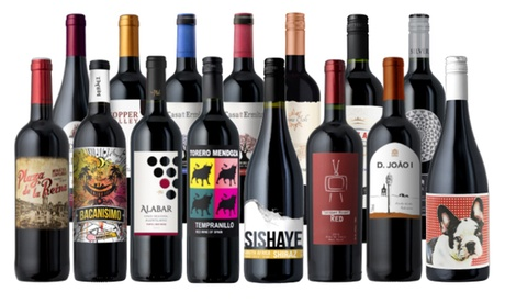 15-Pack of Ultimate Fall Reds from Splash Wines (78 perc Off)