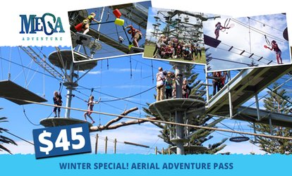 $45 for an All-Access SkyChallenge Aerial Adventure Pass for One Person at Mega Adventure Park (Up to $65 Value)