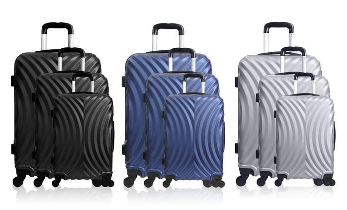 3-teiliges Koffer-Set in der Farbe nach Wahl (80% sparen*)